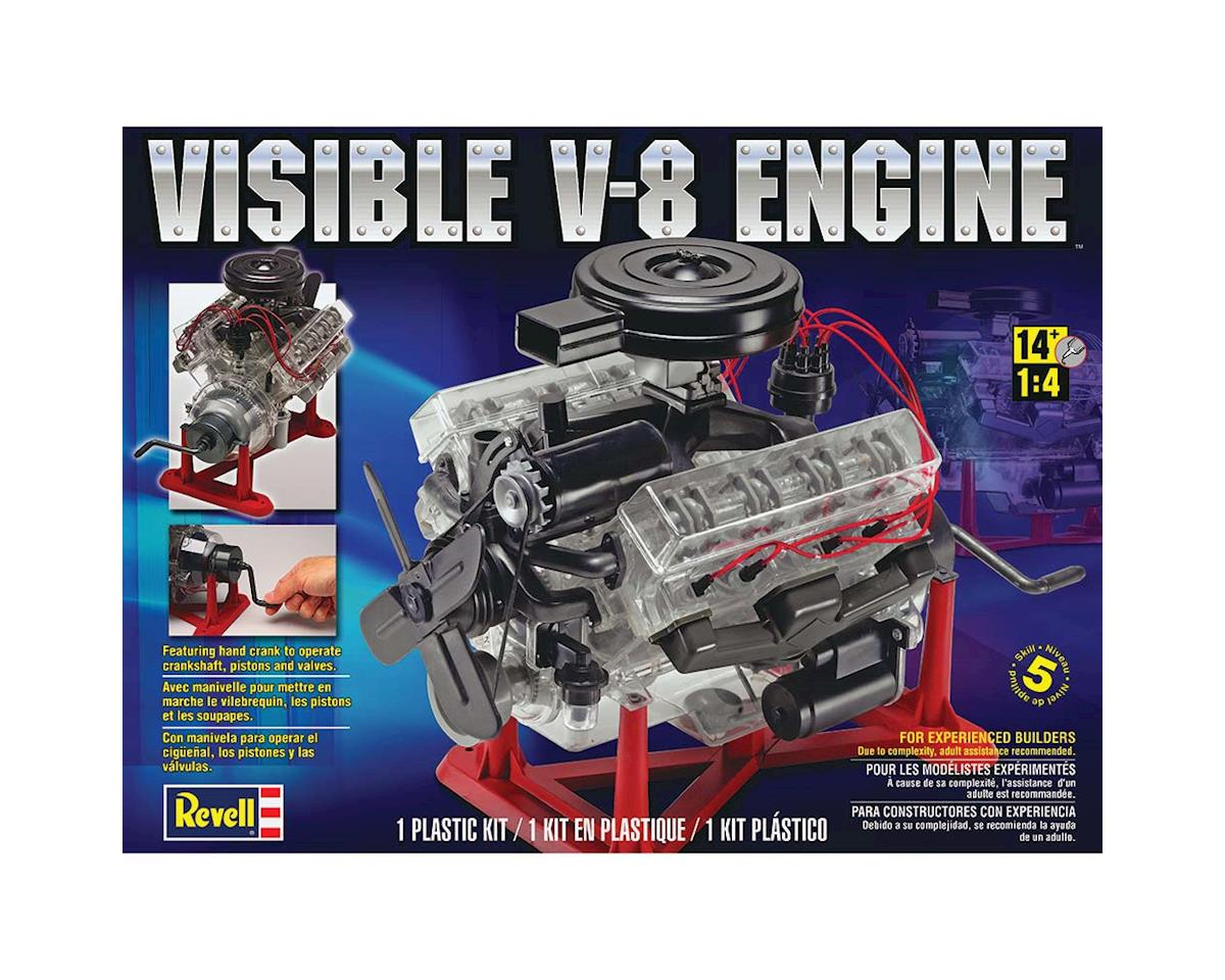 1/4 Visible V8 Engine W/Working Hand Crank by Revell