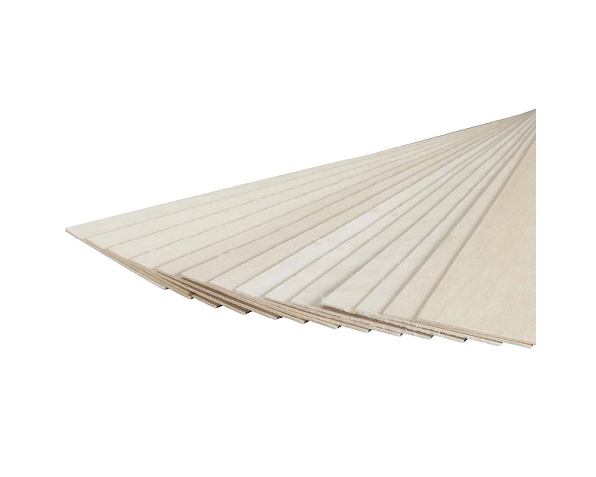 "Revell 887526 Basswood Sheet 1/16 x 3 x 24"" (15)"