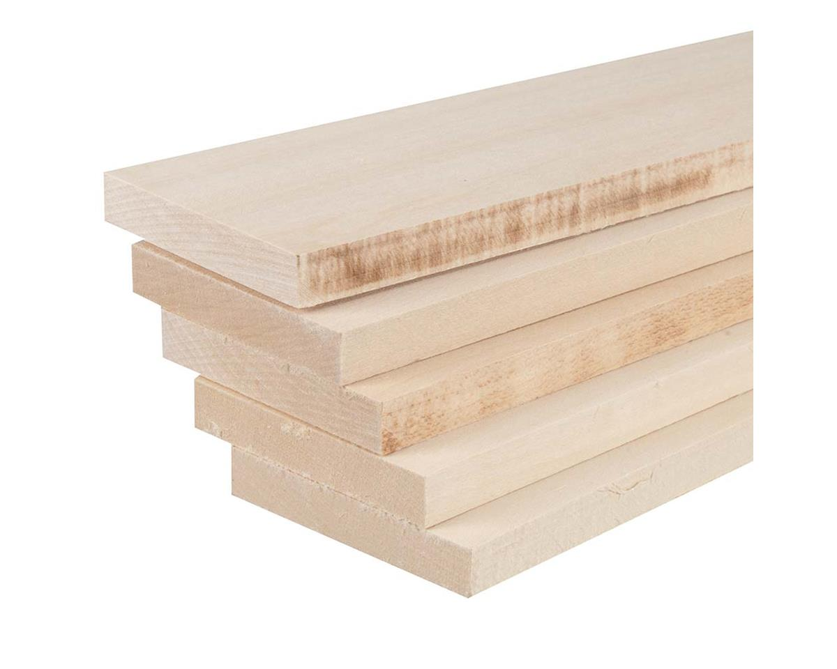 """887533 Basswood 1/2 x 3 x 24"""" (5) by Revell"""