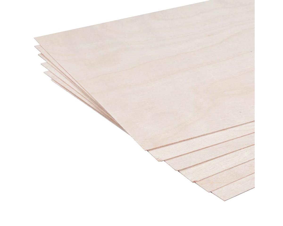 "Revell 887625 Birch Plywood .4mm 1/64 x 6 x 12"" (6)"