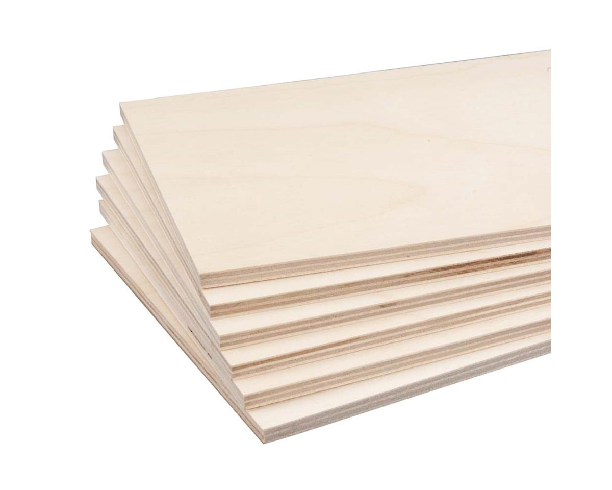 "887631 Birch Plywood 6mm 1/4 x 6 x 12"" (6) by Revell"