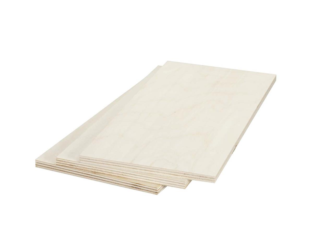 """887632 Birch Plywood 9mm 3/8 x 6 x 12"""" (3) by Revell"""