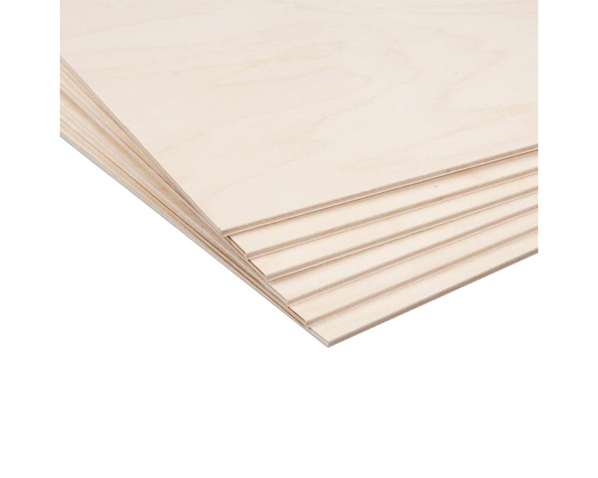 "Revell 887654 Birch Plywood 3mm 1/8 x 12 x 12"" (6)"