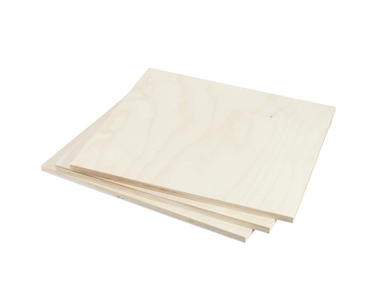"""887656 Birch Plywood 9mm 3/8 x 12 x 12"""" (3) by Revell"""