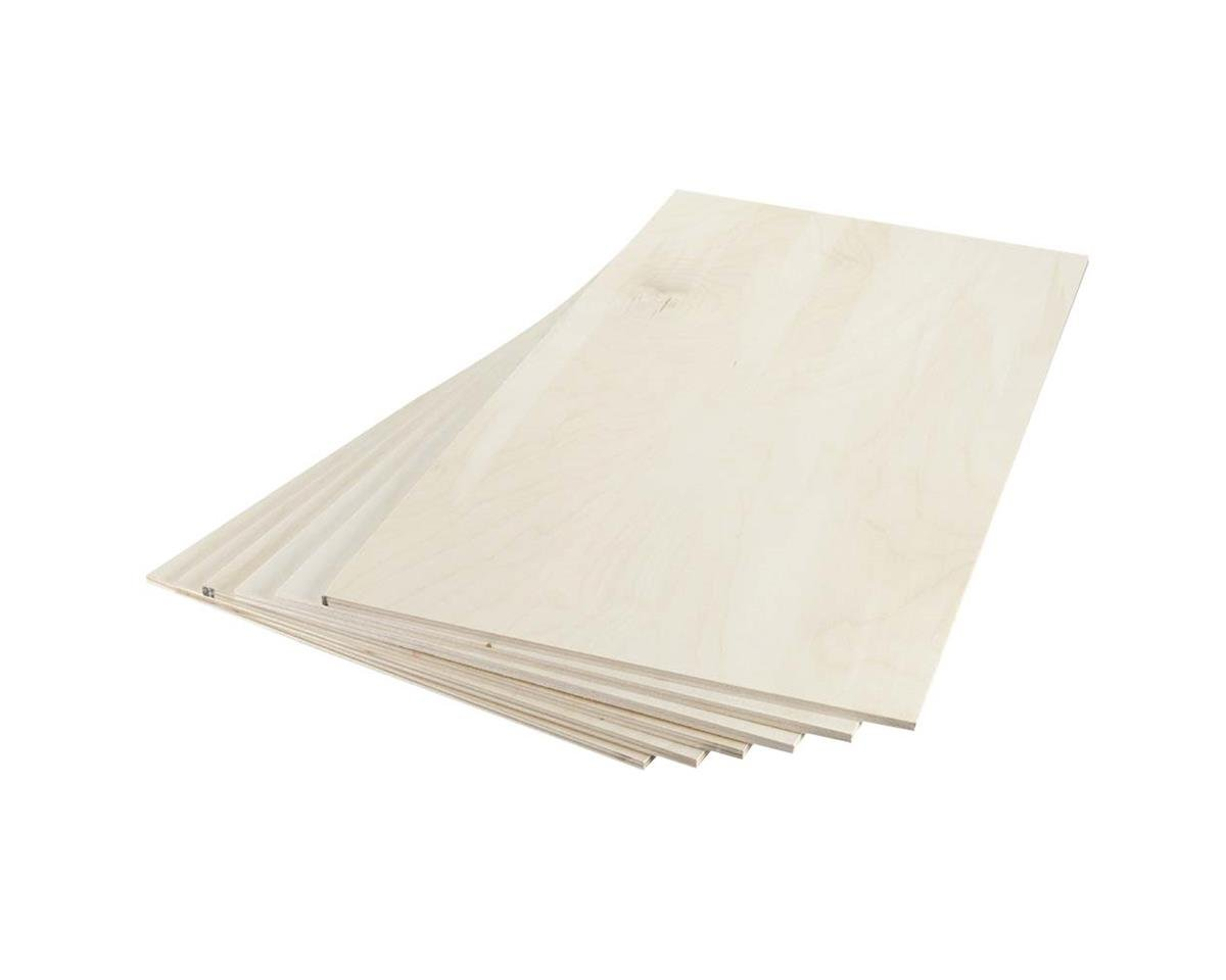 "Revell 887682 Birch Plywood 6mm 1/4 x 12 x 24"" (6)"