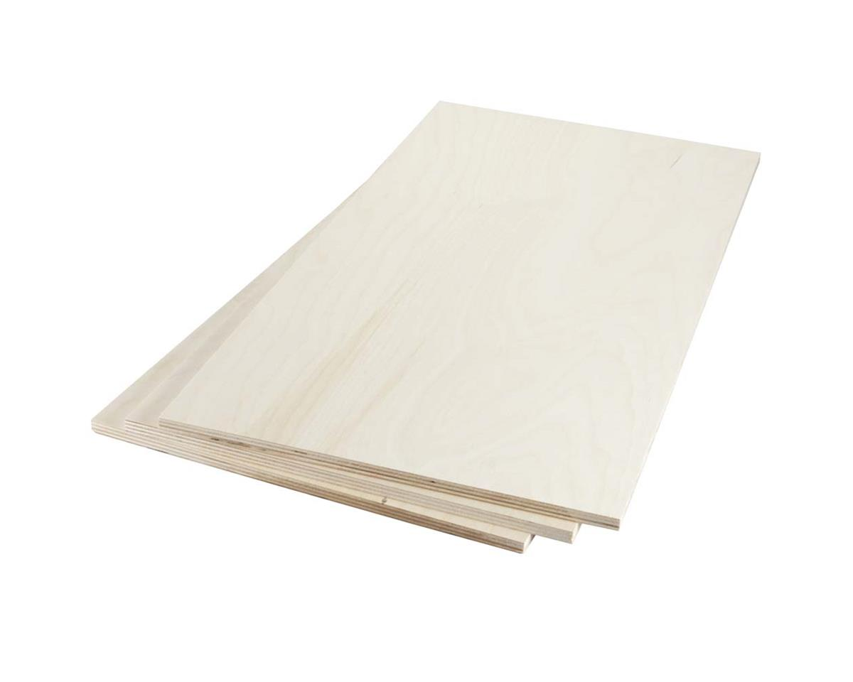 "Revell 887683 Birch Plywood 9mm 3/8 x 12 x 24"" (3)"