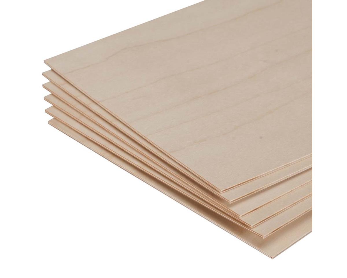 "Revell 887850 Model Birch Plywood 1/16 x 6 x 12"" (6)"