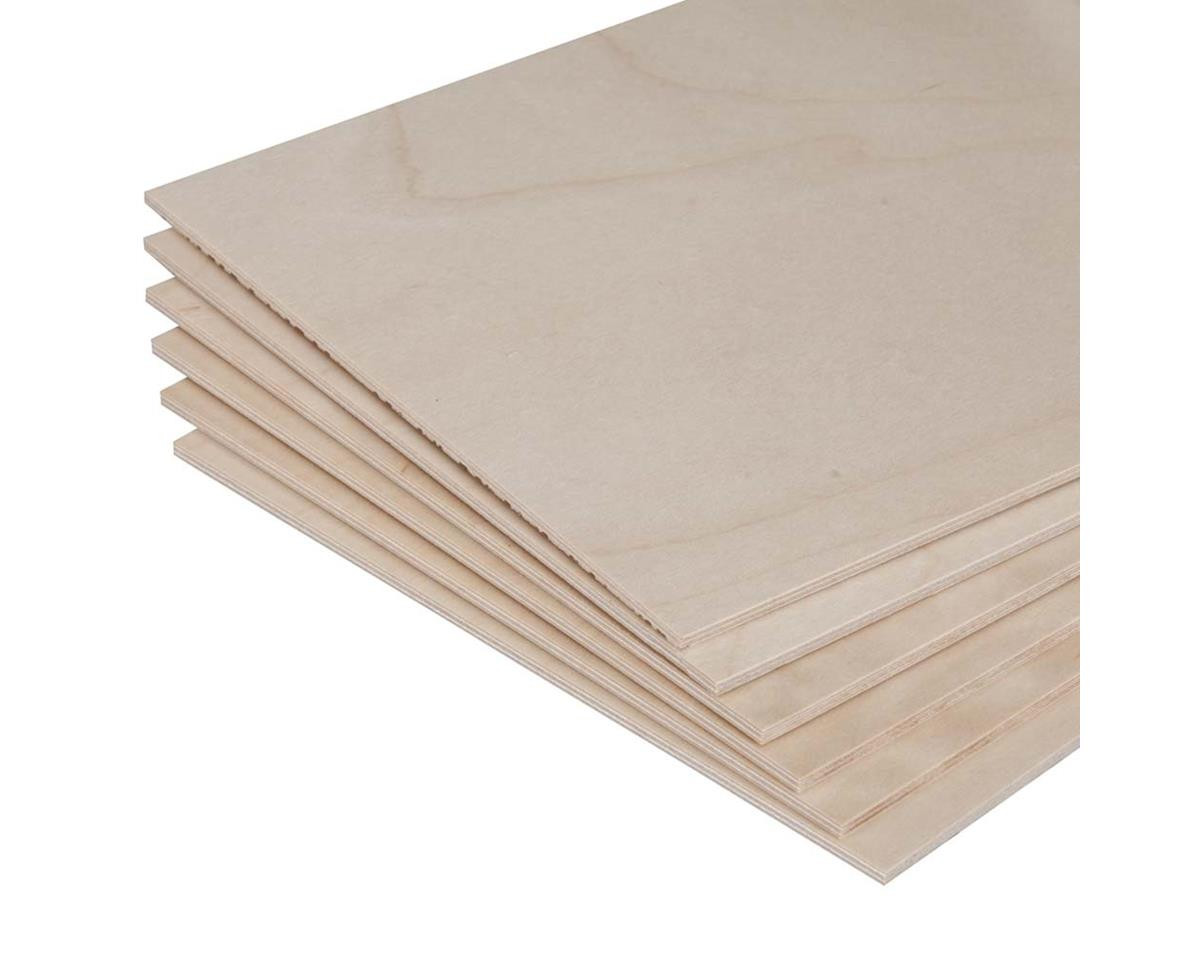 "887851 Model Birch Plywood 3/32 x 6 x 12"" (6) by Revell"