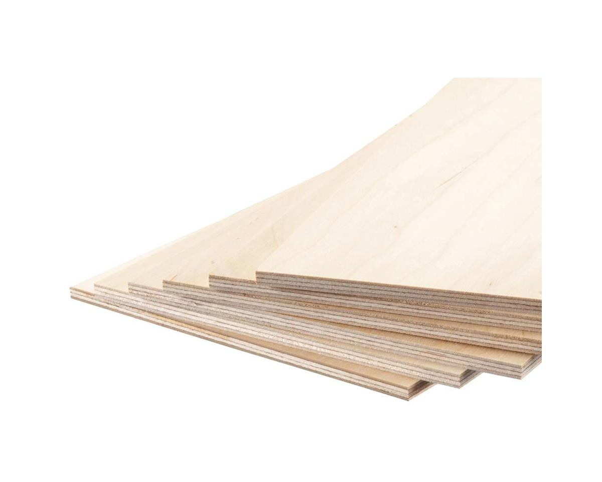 "Revell 887853 Model Birch Plywood 3/16 x 6 x 12"" (6)"