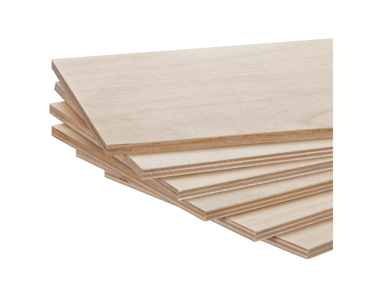 "887854 Model Birch Plywood 1/4 x 6 x 12"" (6) by Revell"