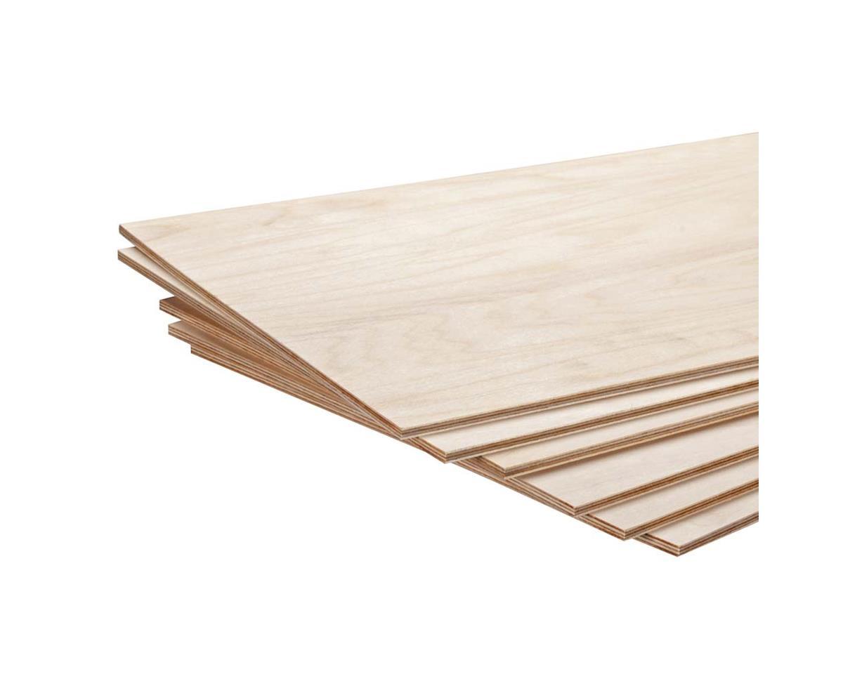 "Revell 887863 Model Birch Plywood 3/16 x 12 x 24"" (6)"