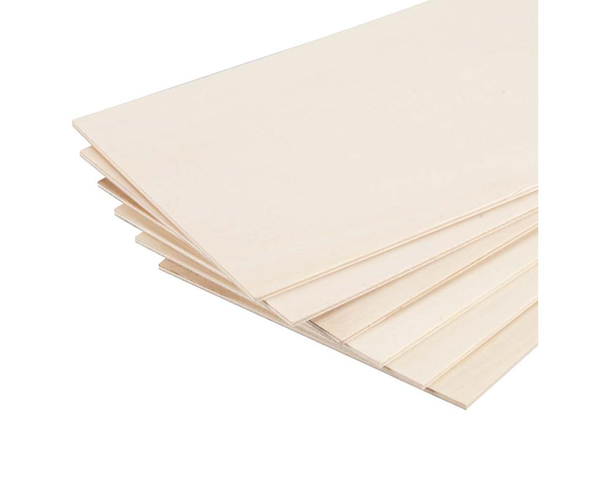 "Revell 887884 Poplar Plywood 1/8 x 6 x 12"" (6)"