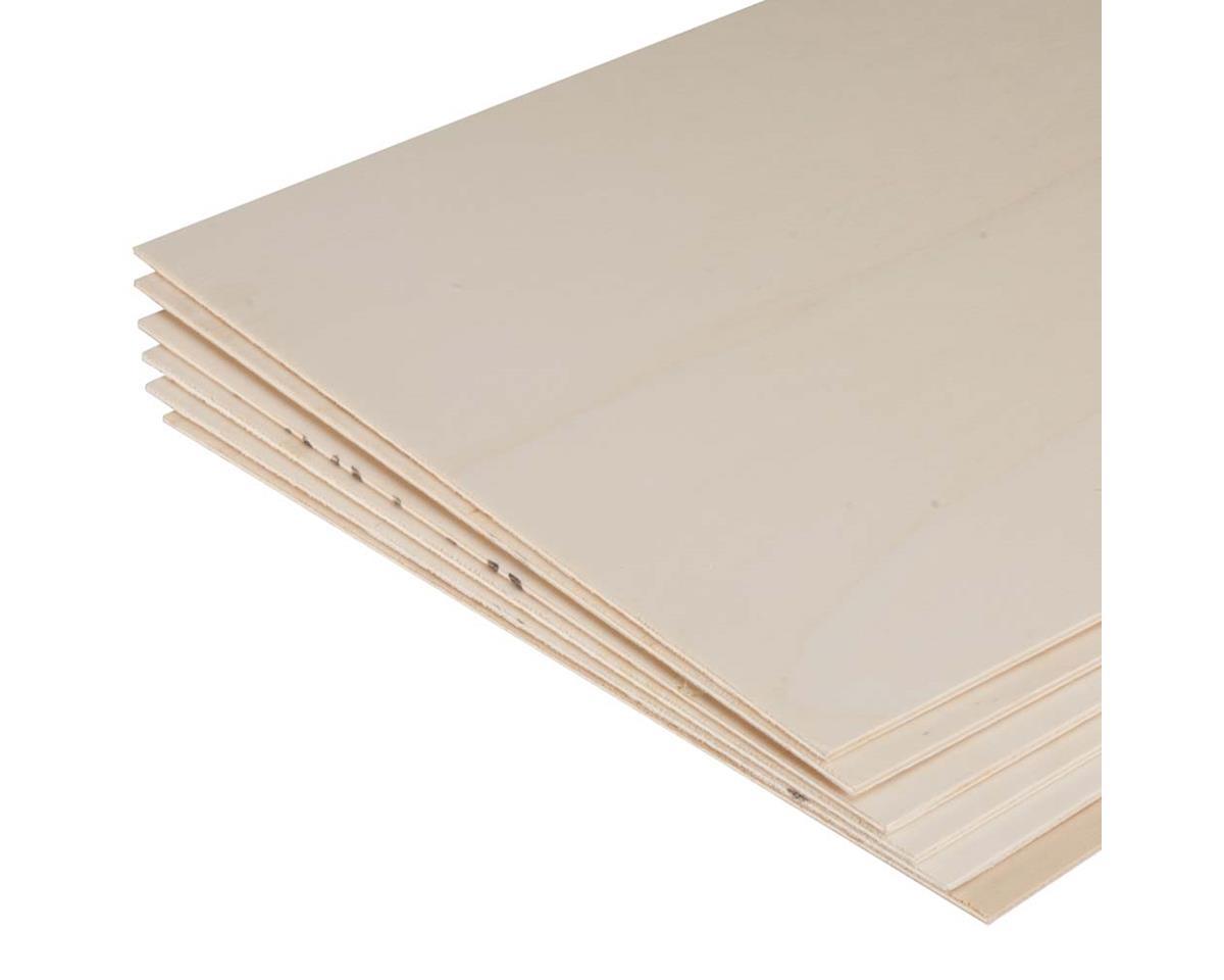 "887901 Poplar Plywood 1/8 x 12 x 48"" (6) by Revell"