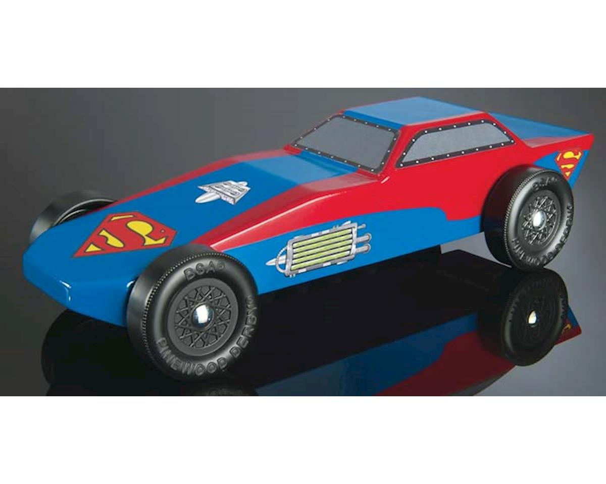 Superman Sports Car Racer Series Kit Pinewood Derby by Revell