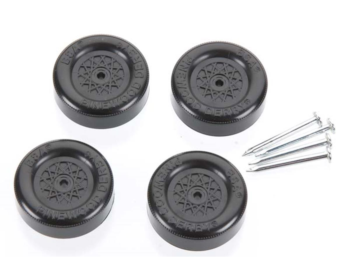 Official Bsa Wheel And Axle Set Black Pinewood Derby by Revell