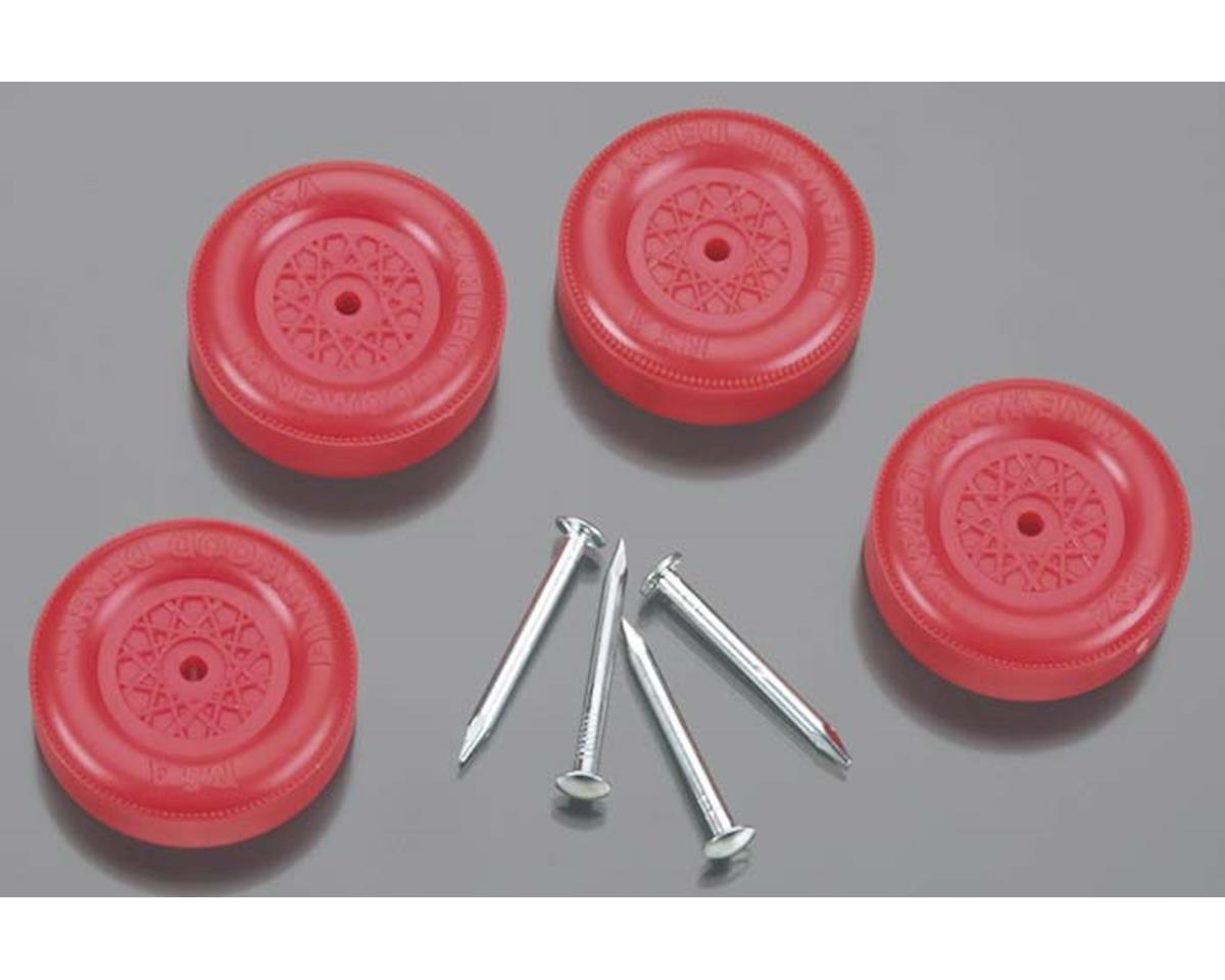 Revell Official Bsa Wheel And Axle Set Red Pinewood Derby