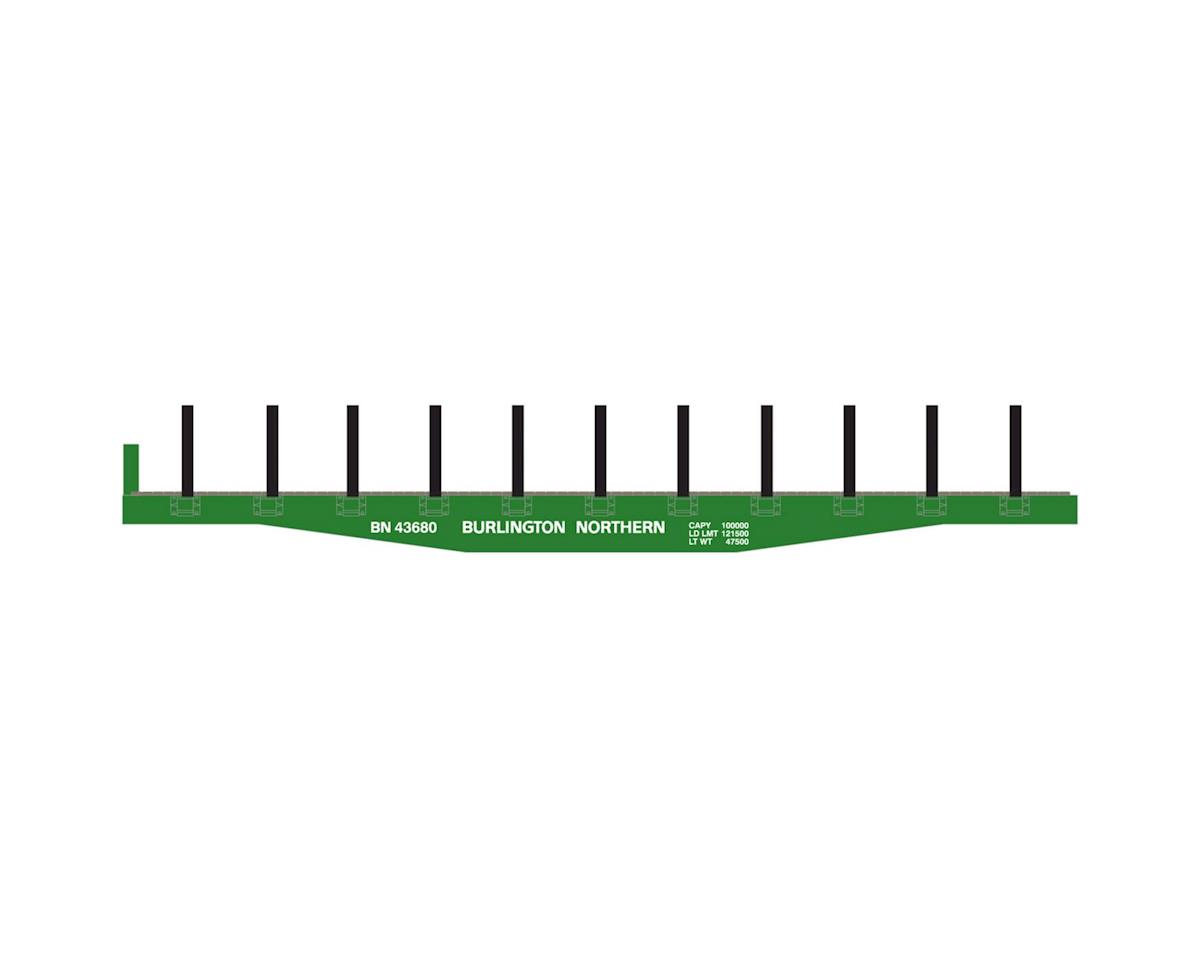Roundhouse HO 40' Flat w/Stakes, BN #43680