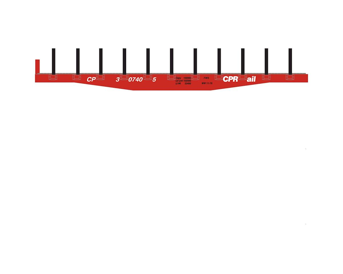Roundhouse HO 40' Flat w/Stakes, CPR #307405