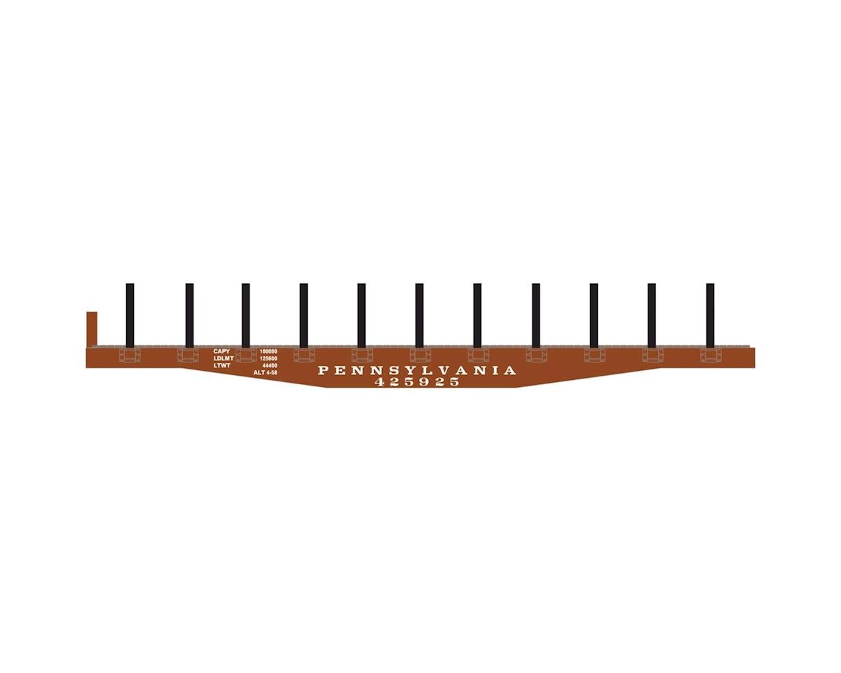 Roundhouse HO 40' Flat w/Stakes, PRR #425925