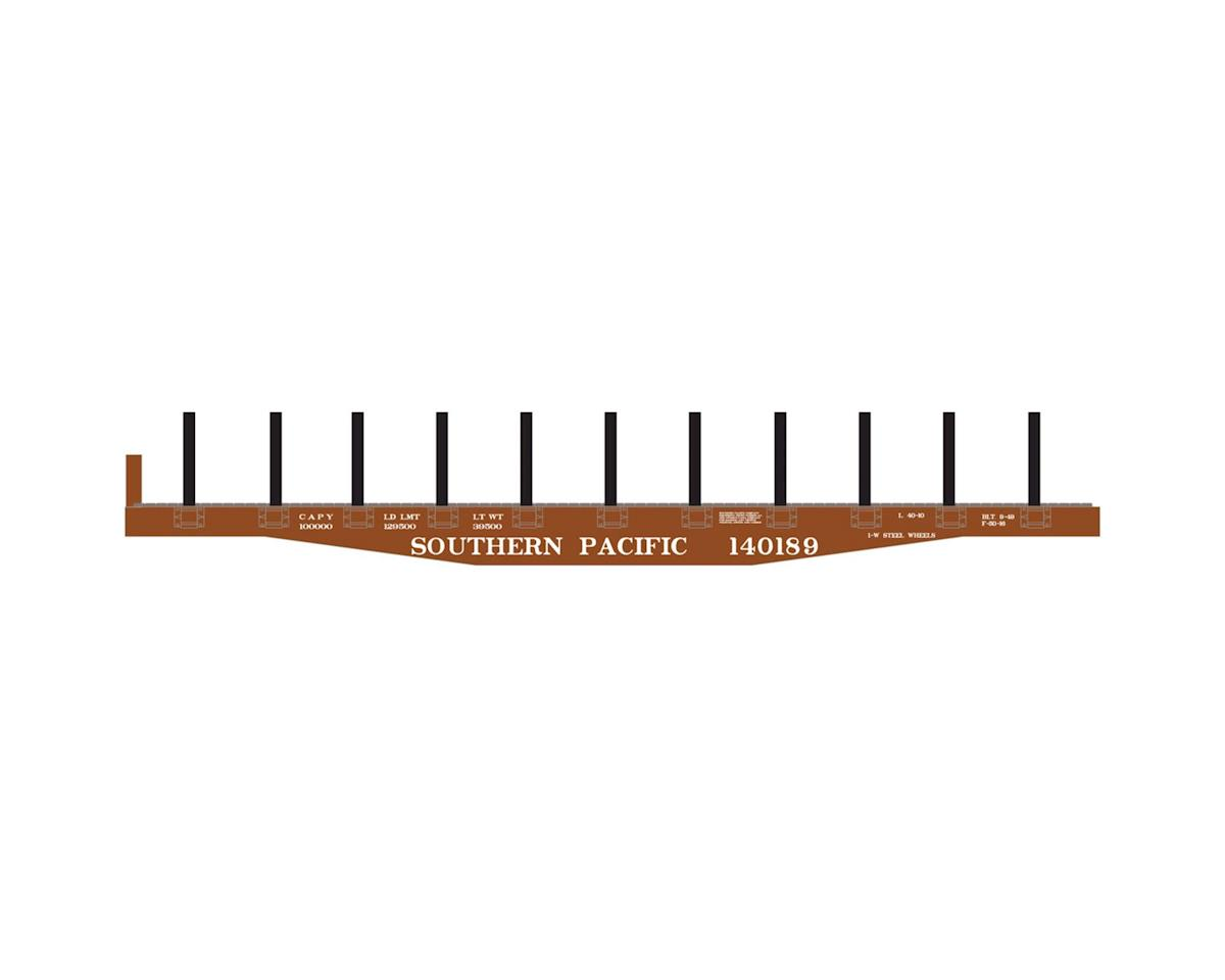 Roundhouse HO 40' Flat w/Stakes, SP #140189
