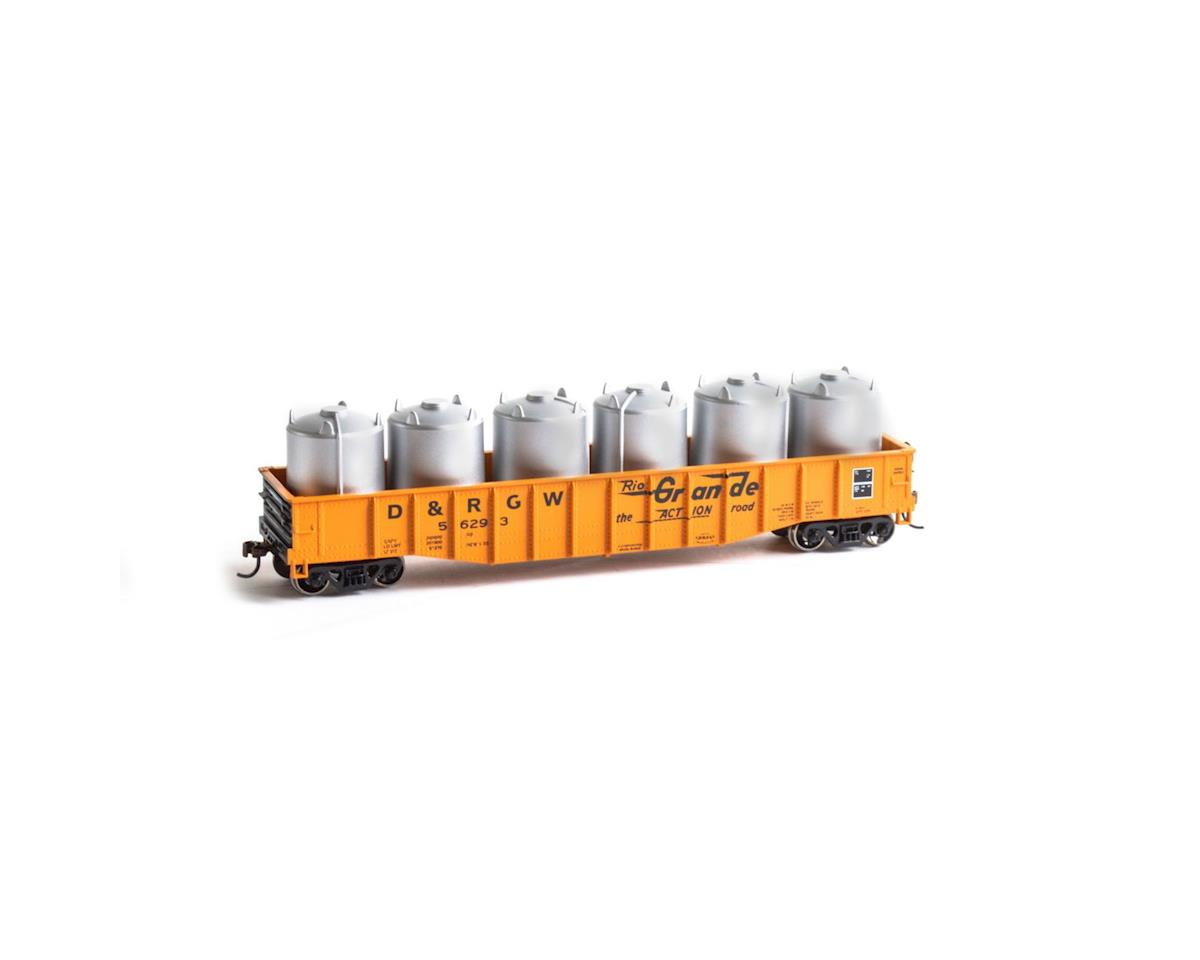 HO 50' Gondola w/Canisters Load, D&RGW #56293 by Roundhouse