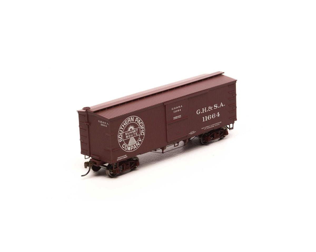 Roundhouse HO 36' Old Time Wood Box, GH&SA #11664
