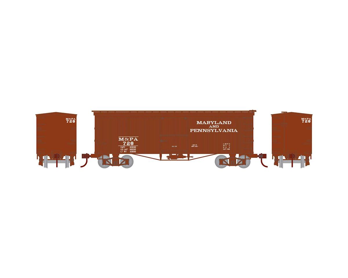 HO 36' Old Time Wood Box, M&PA #728 by Roundhouse