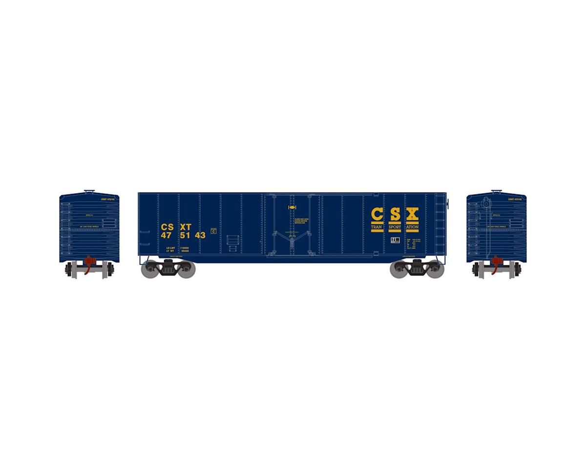 Roundhouse HO 50' Plug Door Smooth Side Box, CSX #475143