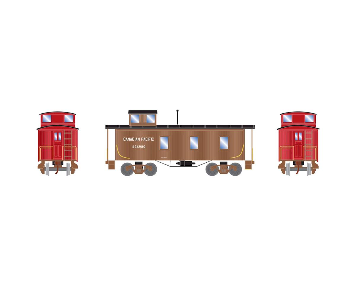 Roundhouse HO 30' 3-Window Caboose, CPR #436980