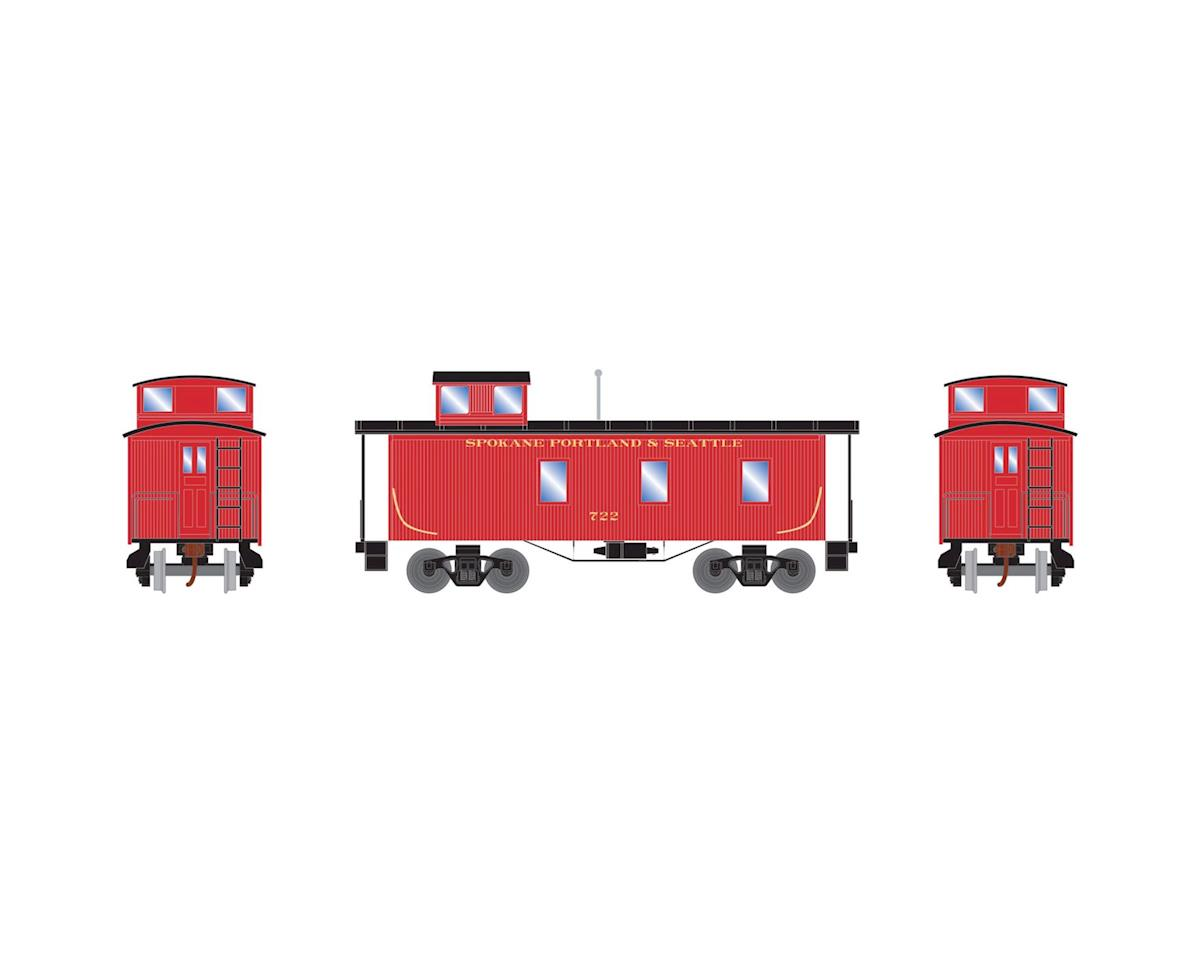 Roundhouse HO 30' 3-Window Caboose, SP&S #722