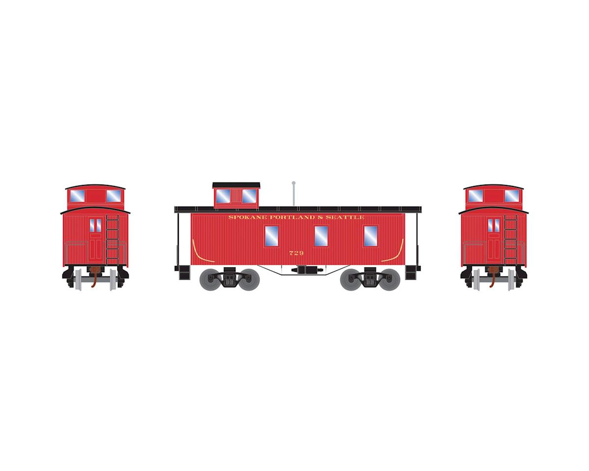 Roundhouse HO 30' 3-Window Caboose, SP&S #729