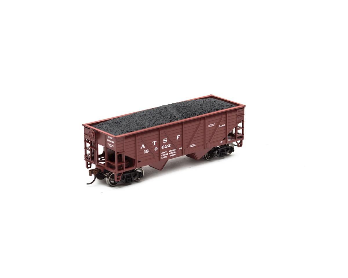 Roundhouse HO 34' 2-Bay Hopper w/Coal Load, SF #180622