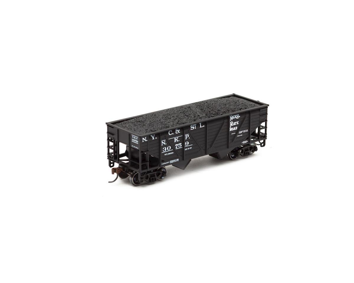 Roundhouse HO 34' 2-Bay Hopper w/Coal Load, NKP #30759