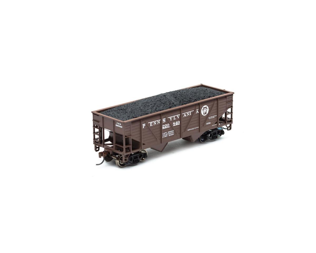 Roundhouse HO 34' 2-Bay Hopper w/Coal Load, PRR #220849