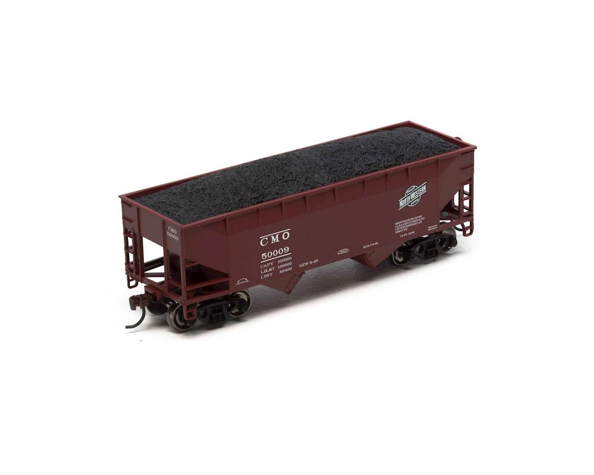 Roundhouse HO 34' 2-Bay Offset Hopper w/Coal Load,C&NW #50009