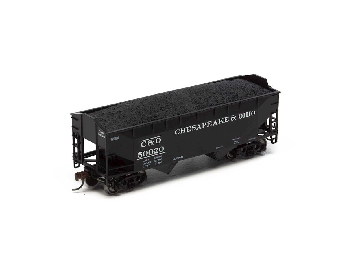 Roundhouse HO 34' 2-Bay Offset Hopper w/Coal Load, C&O #50020
