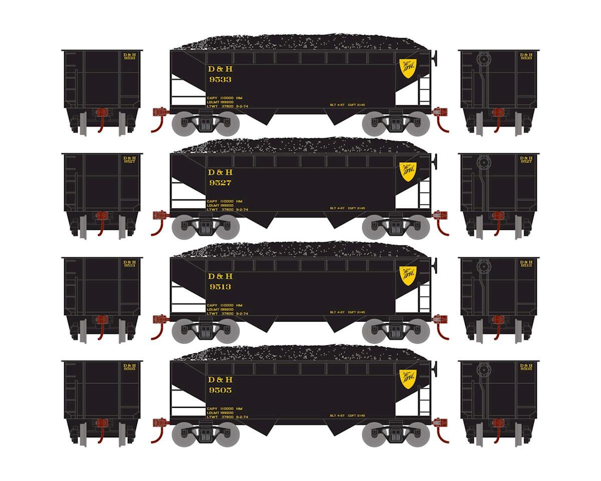 Roundhouse HO 34' 2-Bay Offset Hopper w/Coal Load, D&H #1 (4)