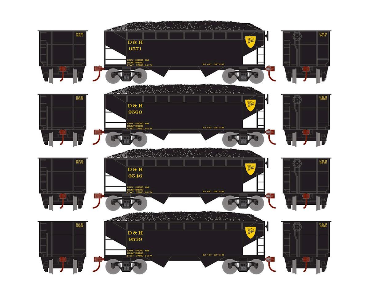 Roundhouse HO 34' 2-Bay Offset Hopper w/Coal Load, D&H #2 (4)