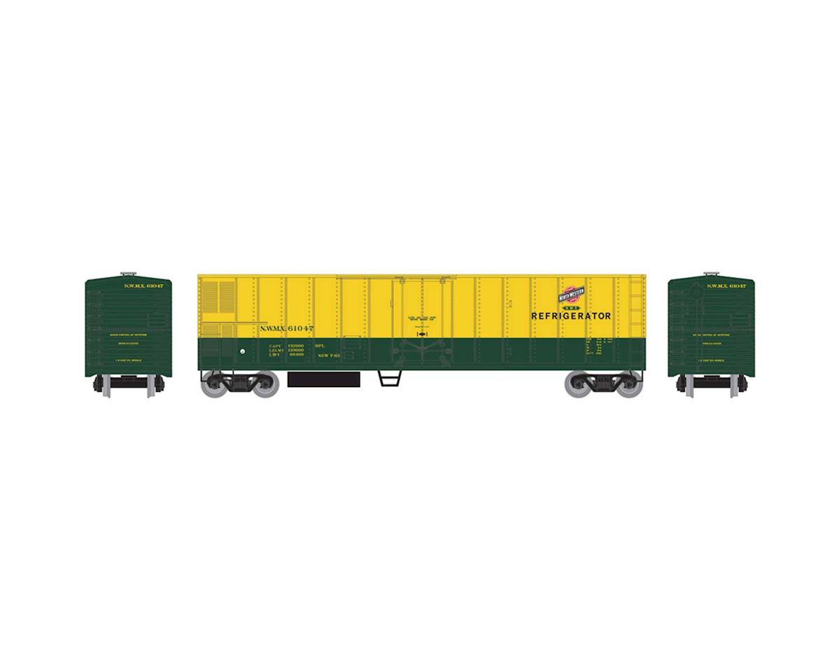 Roundhouse HO 50' Smooth Side Mechanical Reefer, C&NW #61047