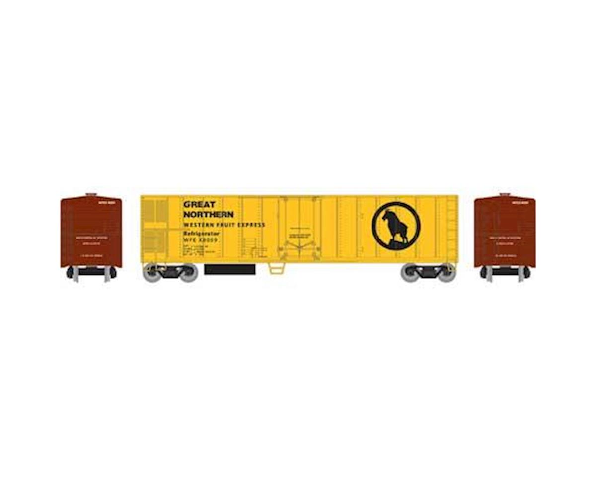 Roundhouse HO 50' Smooth Side Mechanical Reefer,GN/WFEX #8059