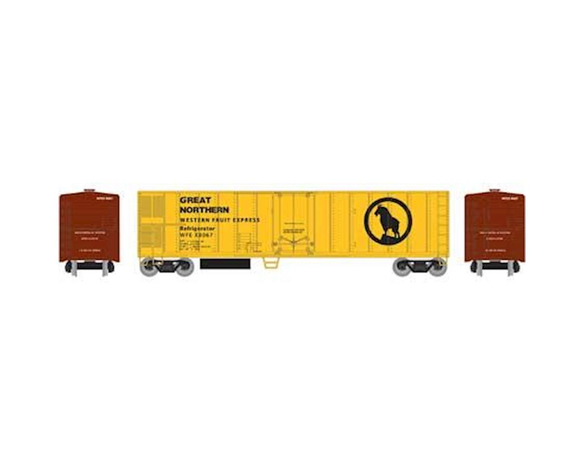 Roundhouse HO 50' Smooth Side Mechanical Reefer,GN/WFEX #8067