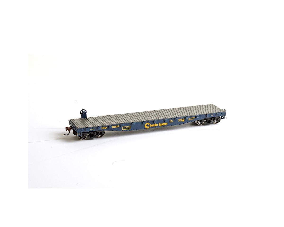 Roundhouse HO 50' Flat w/Stakes, C&O #216629
