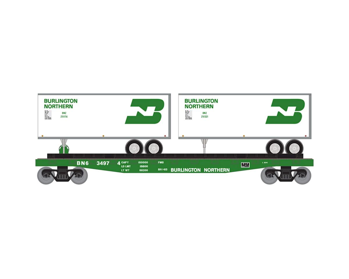 Roundhouse HO 50' Flat w/2 25' Trailer, BN #2