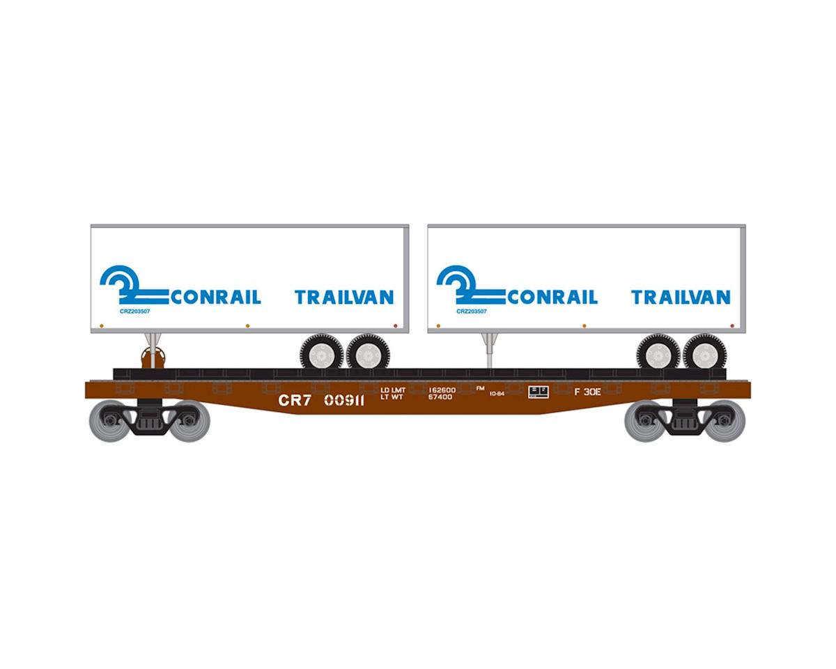 Roundhouse HO 50' Flat w/2 25' Trailer, CR #1