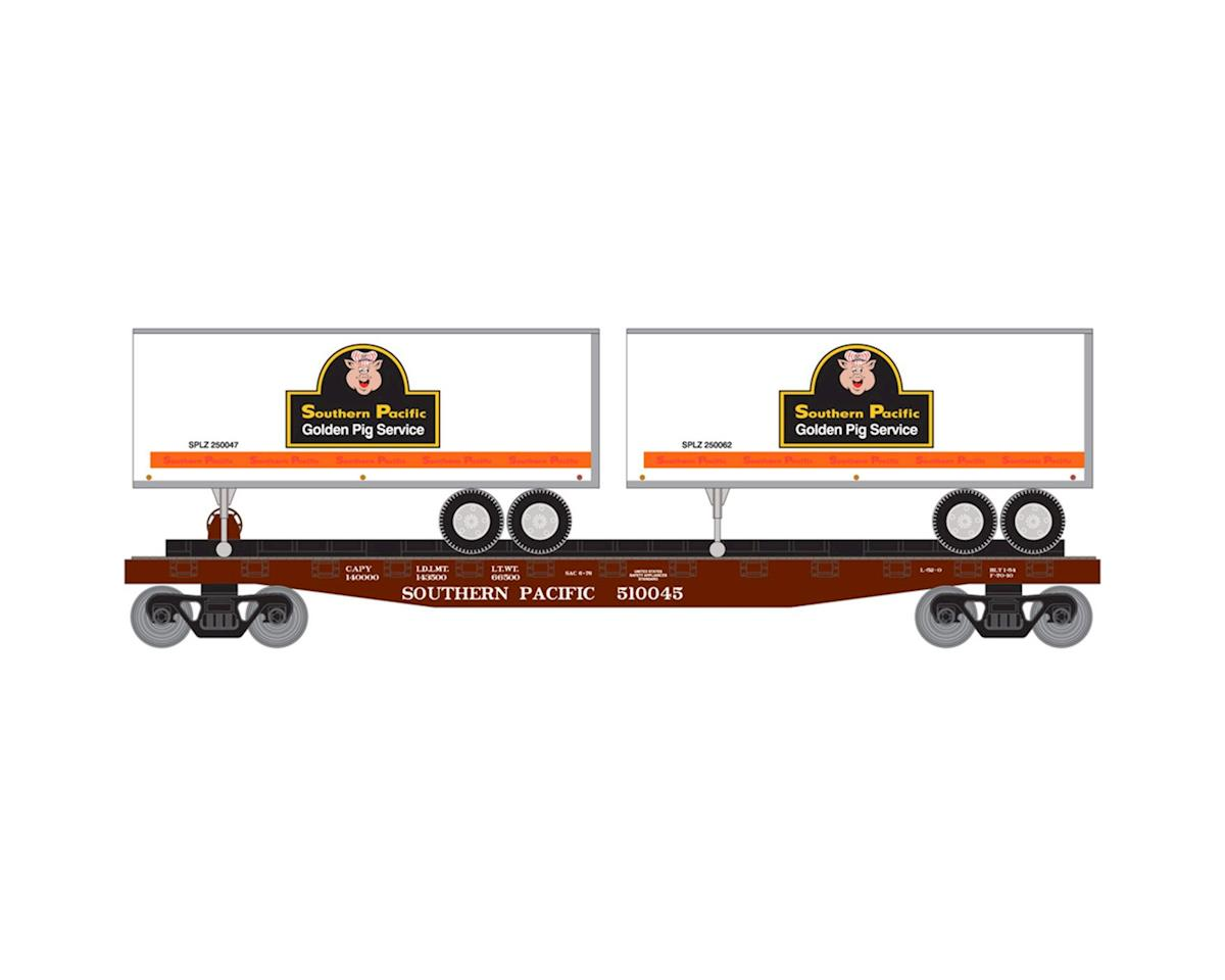 Roundhouse HO 50' Flat w/2 25' Trailer, SP #2