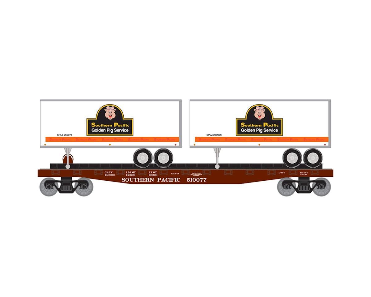 Roundhouse HO 50' Flat w/2 25' Trailer, SP #3