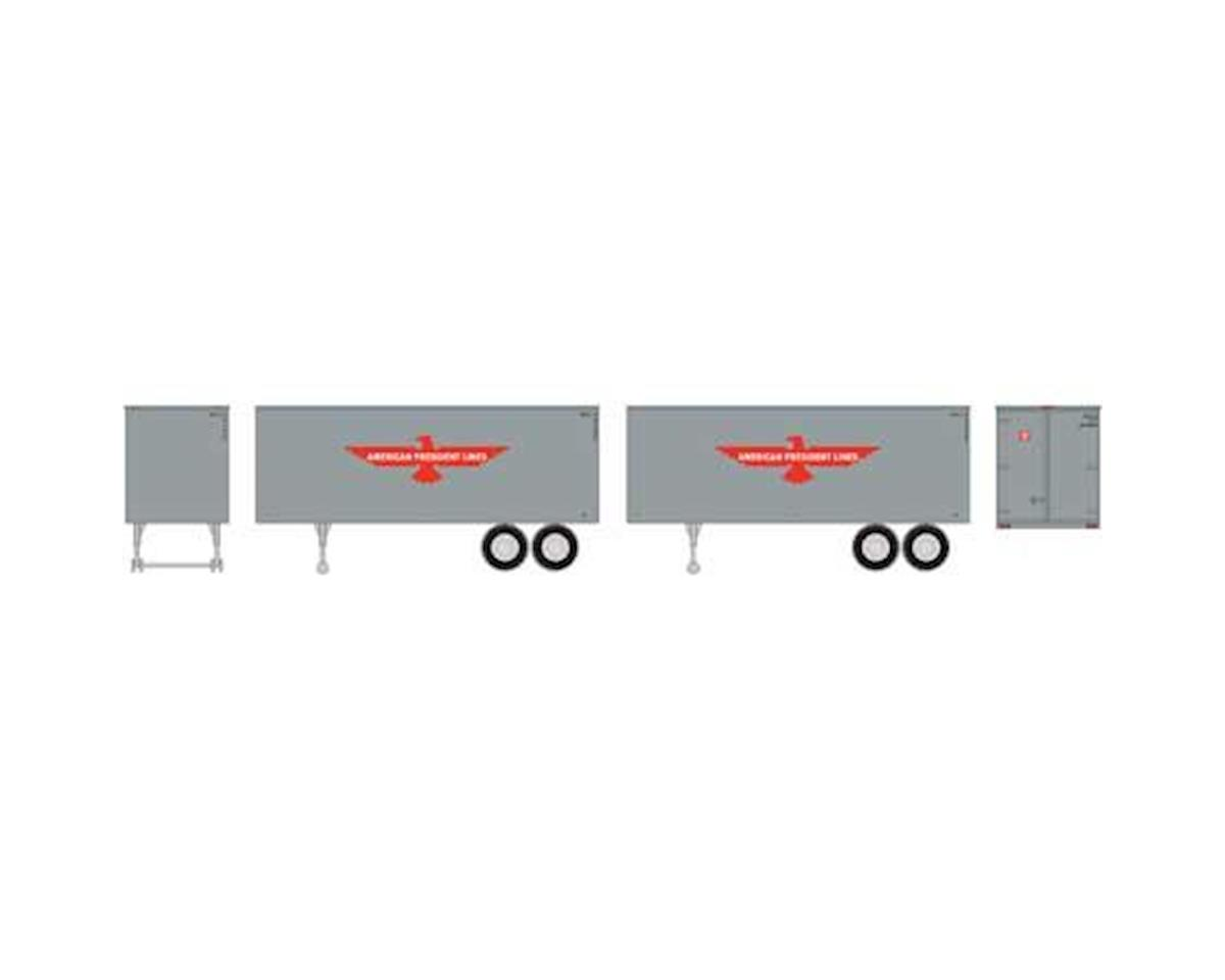 Roundhouse HO 25' Trailers, APL (2)