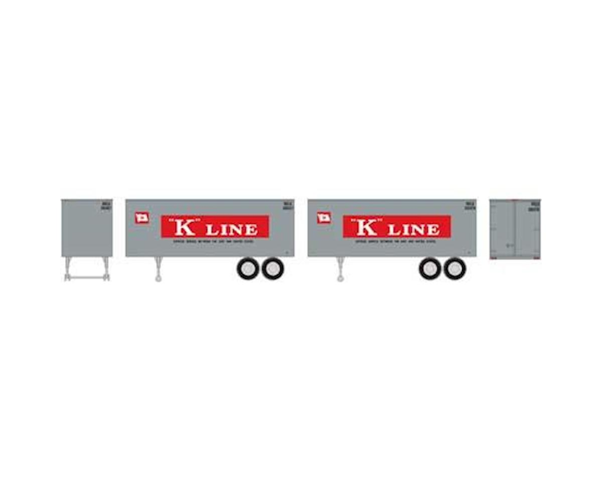 Roundhouse HO 25' Trailers, K-Line (2)