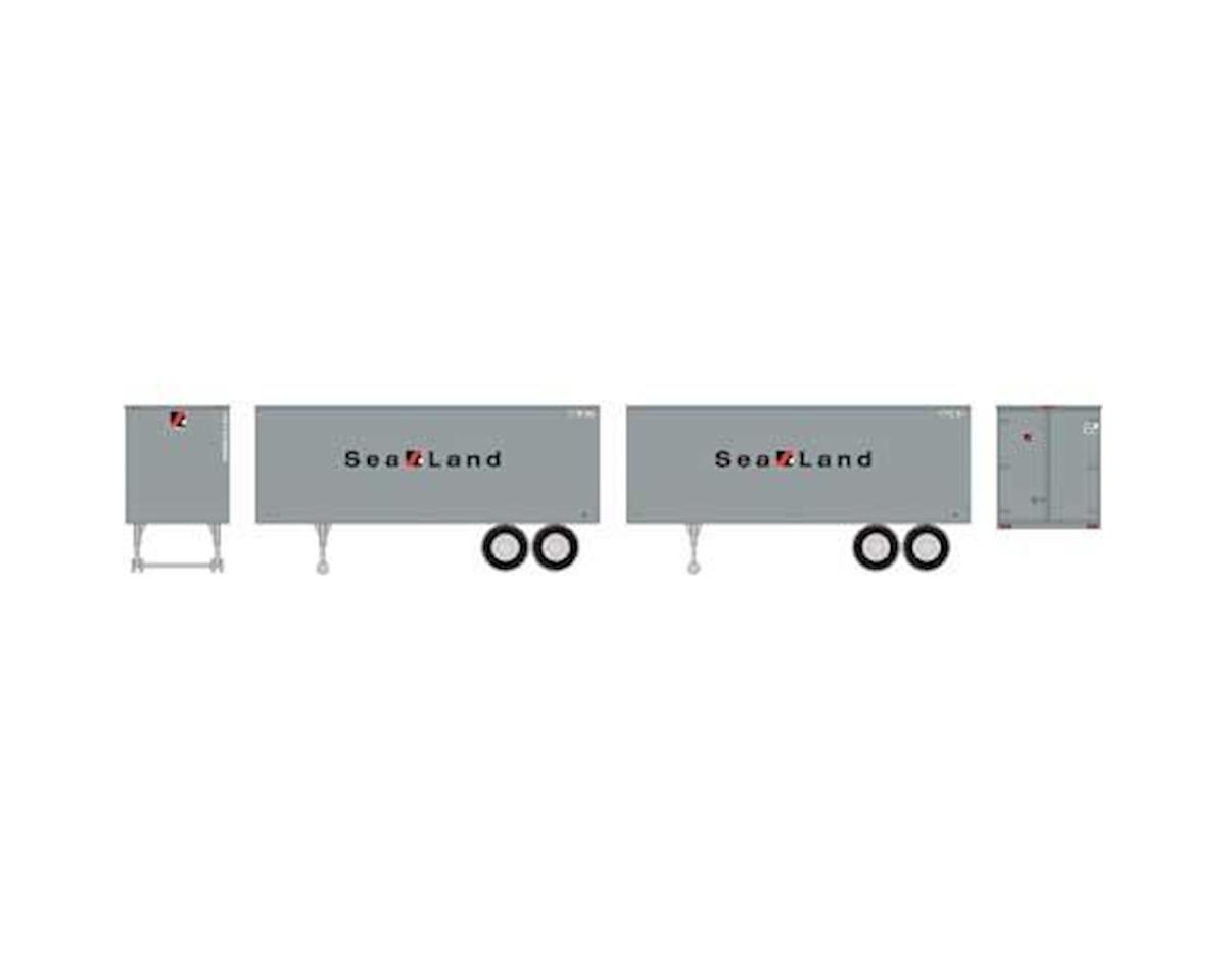 Roundhouse HO 25' Trailers, Sealand (2)