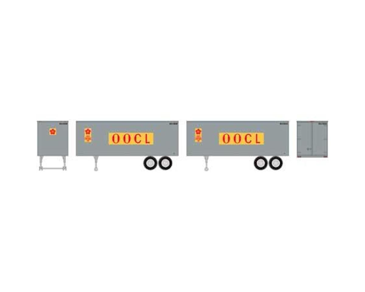 Roundhouse HO 25' Trailers, OOCL (2)